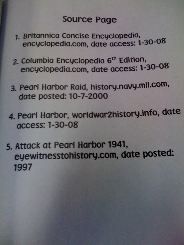 bibliography of online sources